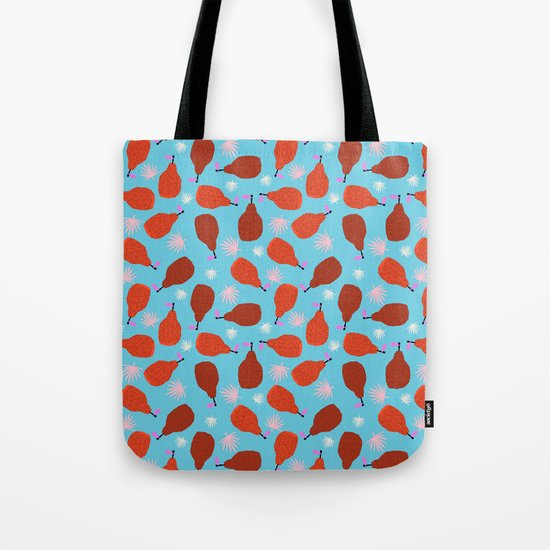 Legit - pears pattern print retro pattern throwback nature minimal modern abstract bright neon 80s Tote Bag