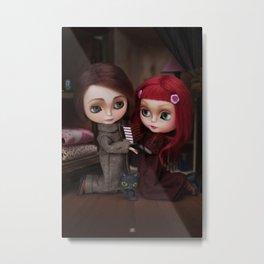 Erregiro Blythe Custom Doll Lisbeth & Edward based on Benjamin Lacombe tale Metal Print
