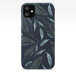 Leafy Vibes (Navy) iPhone Case