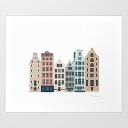 Townhouses Art Print
