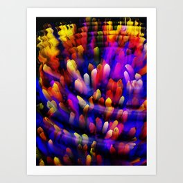 Midnight at the Coral Reef Art Print