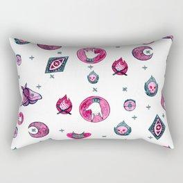 Pink & Green Rectangular Pillow