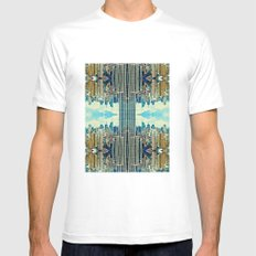 NYC in patterns SMALL White Mens Fitted Tee