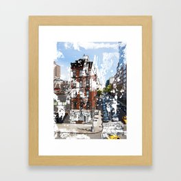 A View of the Block Framed Art Print