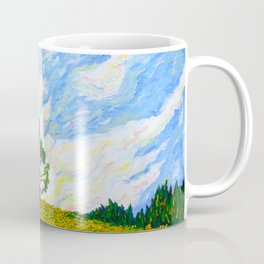Hill With Tree Off of I-476 (World on Fire) Coffee Mug