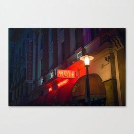 Hotel Neon Sign Canvas Print