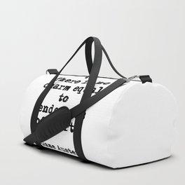 Tenderness of heart - Jane Austen Duffle Bag