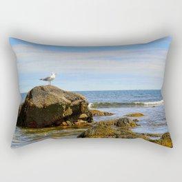 Bird on Rock Rectangular Pillow