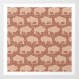 Buffalo Bison Pattern 281 Art Print