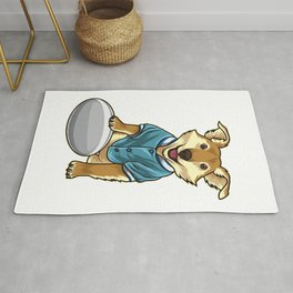 Dog guards Rugby Ball Rug