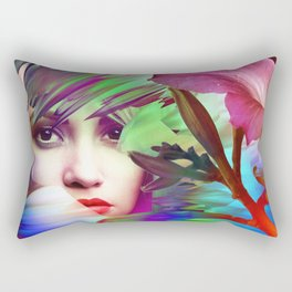 Her Weary Travel's End Rectangular Pillow