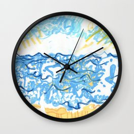 Chalk Water Wall Clock