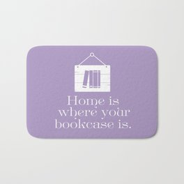 Home Is Where Your Bookcase Is (Violet) Bath Mat