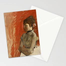 Ballet Dancer with Arms Crossed Stationery Cards
