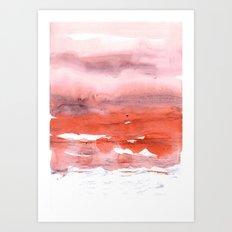 pink & modern orange Art Print