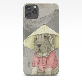 Shar Pei on the Great Wall iPhone Case