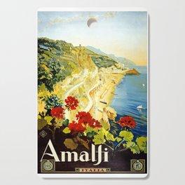 Amalfi Coast, Italy Vintage Travel Poster Cutting Board