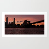 Manhattan Skyline, Panoramic Art Print