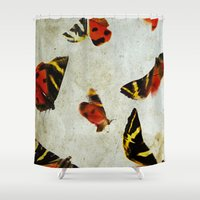 anxiety Shower Curtains featuring Anxiety by lalelovesgir