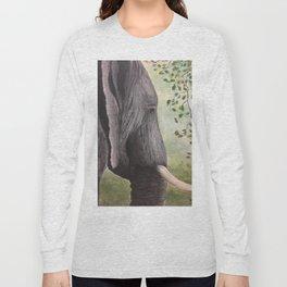 Solemn Elephant Long Sleeve T-shirt