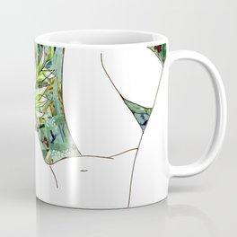 Nude with Green Flowers Coffee Mug