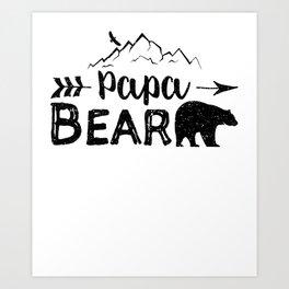 Papa Bear Art Print