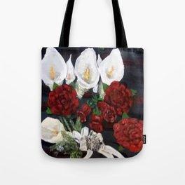Lillies ad Roses Tote Bag