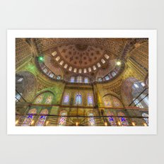 The Blue Mosque Istanbul Art Print