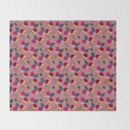 Raspberry Pattern Throw Blanket