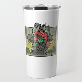 Funny Satan Satanic Santa Claus Christmas Gothic Occult Goth Travel Mug