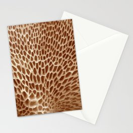 Sponge Mushroom Background - 03 Brown Stationery Cards