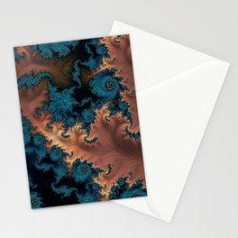 Copper Flame - Fractal Art  Stationery Cards