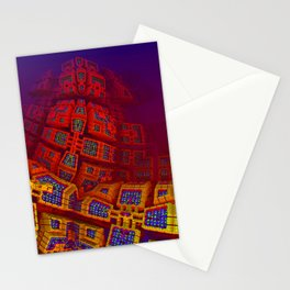 red fractal -100- Stationery Cards