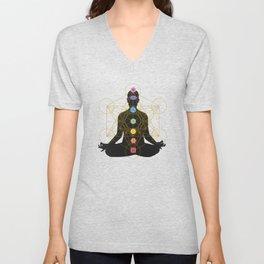 Sacred Geometry Metatron's Cube Chakra Meditation Unisex V-Neck