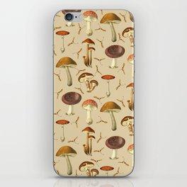 Wild Forest Mushroom Pattern iPhone Skin