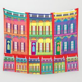 NEW ORLEANS HOUSES Wall Tapestry