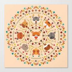 Om Nom Nom Hamster Mandala Canvas Print