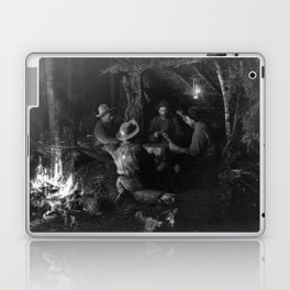Vintage Adirondacks: Playing Cards by the Campfire Laptop & iPad Skin