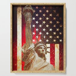 Lady Liberty by Brian Vegas Serving Tray