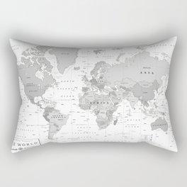 World Map [Black and White] Rectangular Pillow