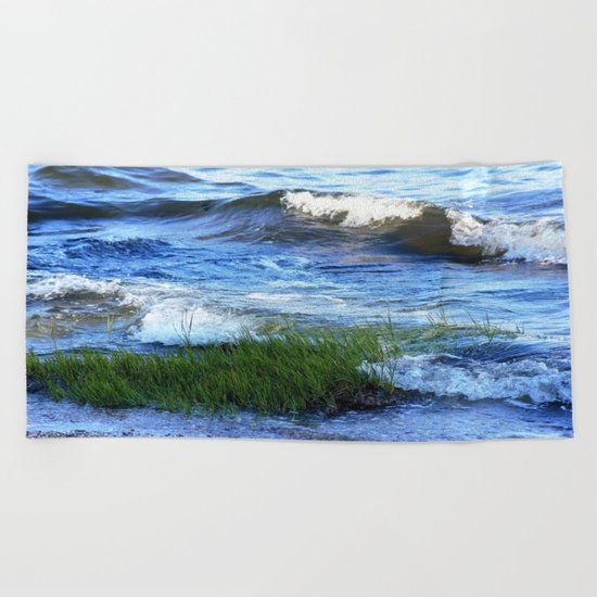 Soft Rolling Waves - 2 Beach Towel