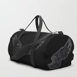 Castiel with Wings Black Duffle Bag