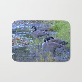 Geese in the Reeds Bath Mat