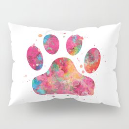 Colorful Paw Pillow Sham