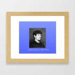 Marcel baschet -Portrait of Debussy Framed Art Print