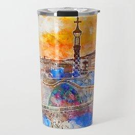 Barcelona, Parc Guell Travel Mug