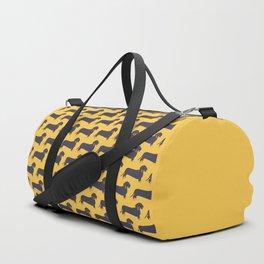 Trendy Dachshund Illustration Pattern Duffle Bag