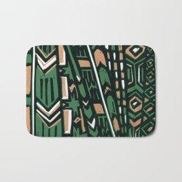 Tribal lino print  Bath Mat
