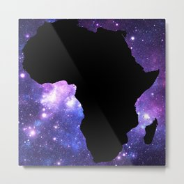 Galaxy AFrica Purple Blue Metal Print