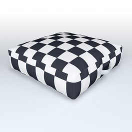 Classic Checkerboard Pattern Outdoor Floor Cushion